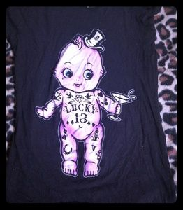 Lucky 13 tattooes baby fitted t shirt